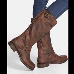 •FRYE• Women's Veronica Slouch Motorcycle Boots